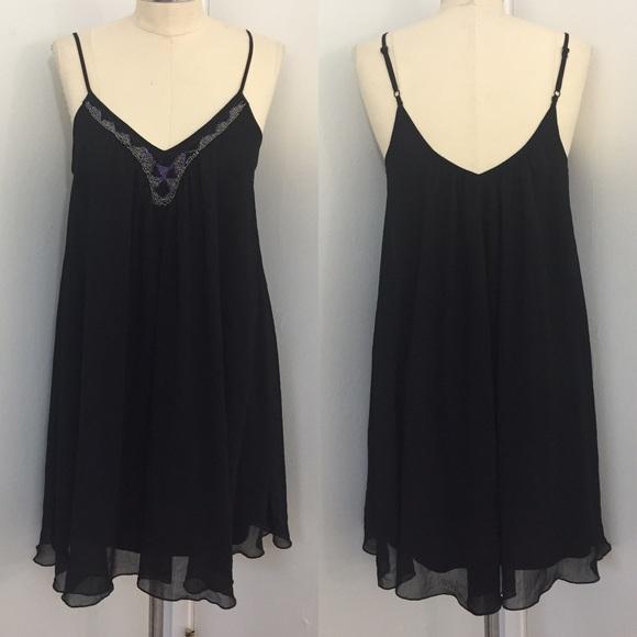 7444b81316b7 Express Dresses | Sexy Beaded Spaghetti Strap Swing Dress | Poshmark